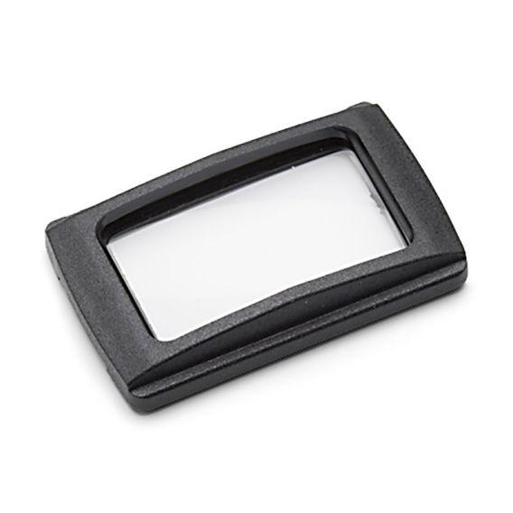 Linse mit Rahmen, schwarz