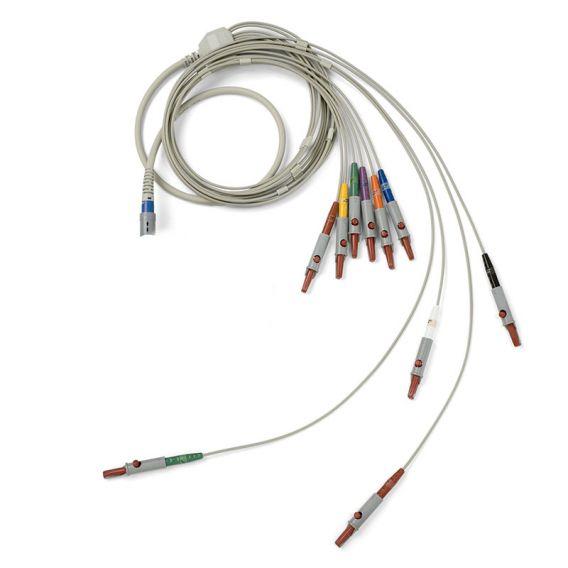 IEC-Patientenkabel mit 10 Ableitungen für PC-basiertes EKG