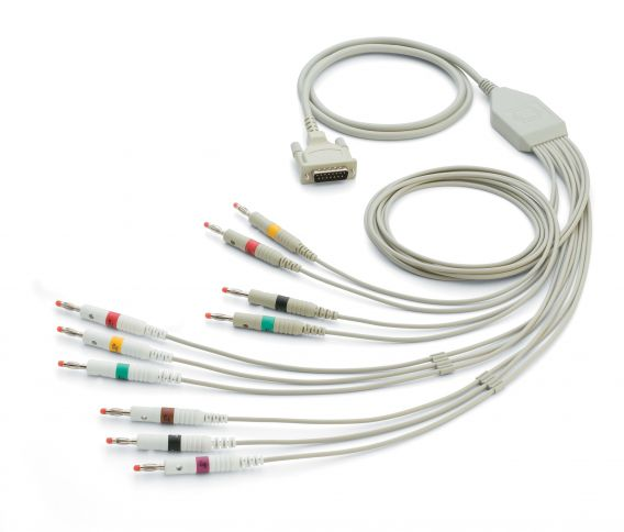 IEC-Patientenkabel mit 10 Ableitungen